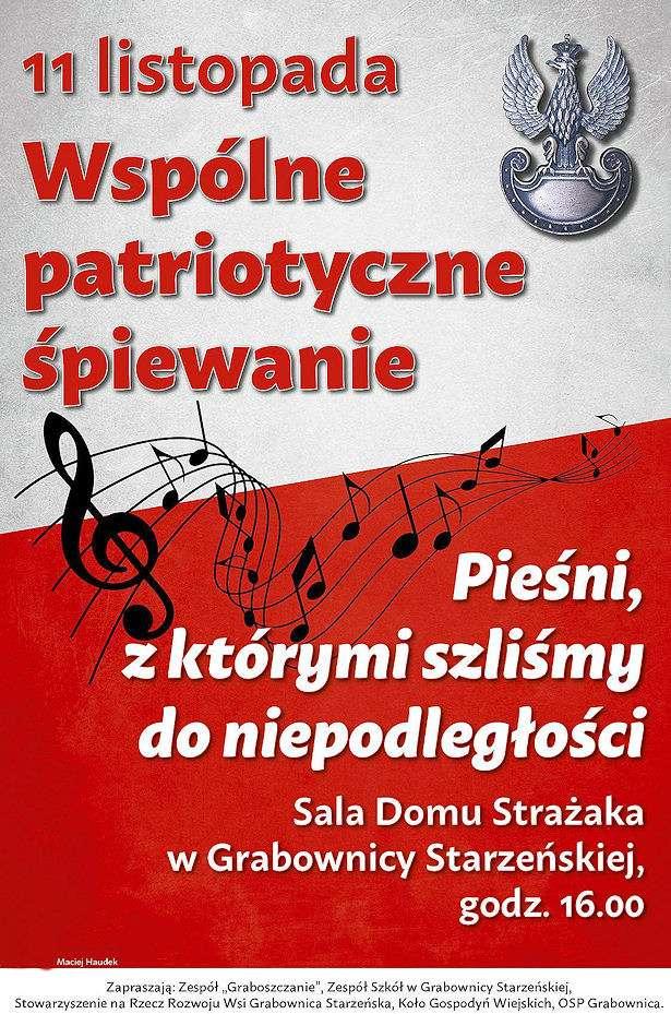 Zaproszenie Na Patriotyczne śpiewanie Plakat Rbrinfopl