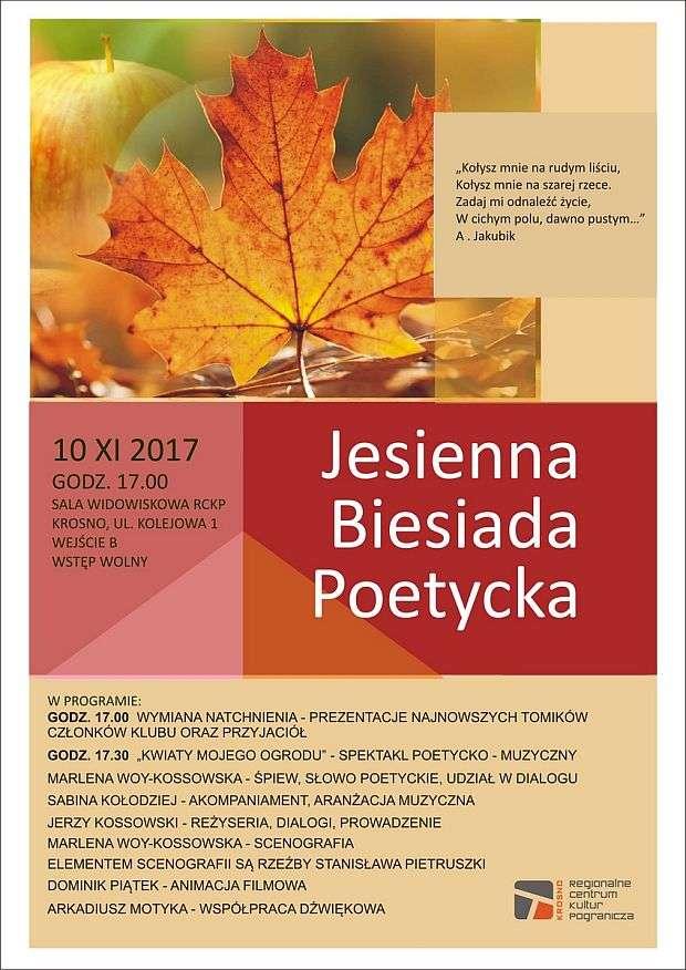 RCKP Jesienna Biesiada Poetycka plakat 2017