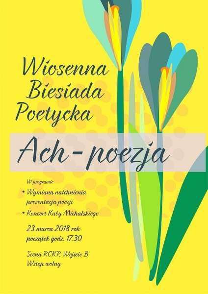 Wiosenna Biesiada Poetycka wRCKP