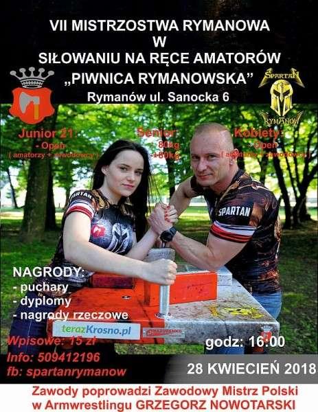 Zapraszamy naVII Mistrzostwa Rymanowa warmwrestlingu