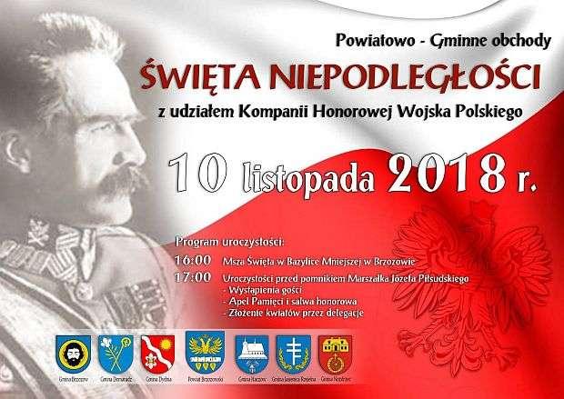 Zapraszamy naPowiatowo-Gminne obchody Święta Niepodległości