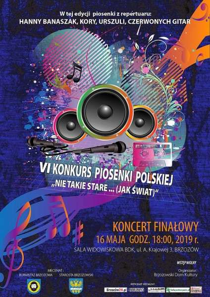 Zapraszamy naVI Konkurs Piosenki Polskiej