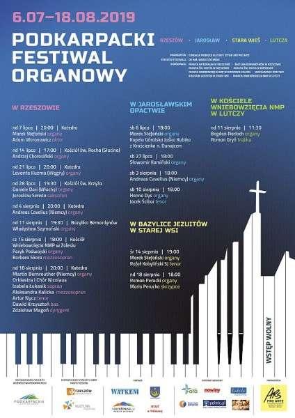 Zapraszamy naPodkarpacki Festiwal Organowy