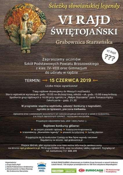 Zapraszamy naVI Rajd Świętojański - Ścieżką słowiańskiej legendy