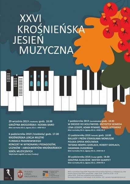 Zapraszamy naXXVI Krośnieńską Jesień Muzyczną