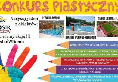 Konkurs plastyczny w ramach akcji #Zostańwdomu