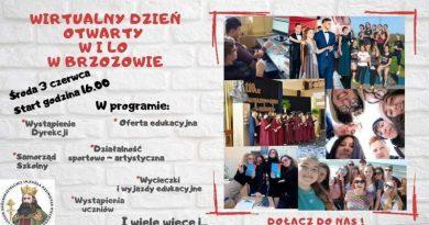I LO w Brzozowie zaprasza na Wirtualny Dzień Otwarty