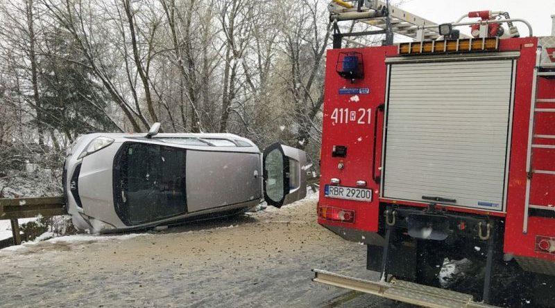 Wypadek w Trześniowie. Do szpitala trafiła jedna osoba